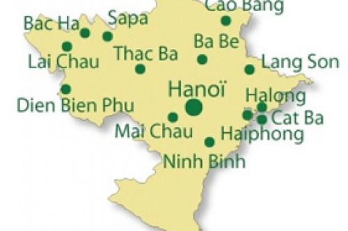 Petit circuit de voyage au Nord de Hanoi Vietnam