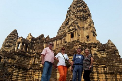 Voyage au Cambodge, Groupe de madame Marie Pierre Baille et Daniel & Marie-Hélène VANOT
