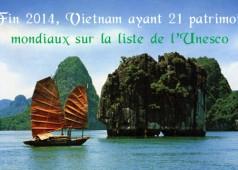 Les patrimoines mondiaux au vietnam